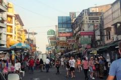 Знаменитая улица Каосан Роуд (Khaosan Road), Бангкок