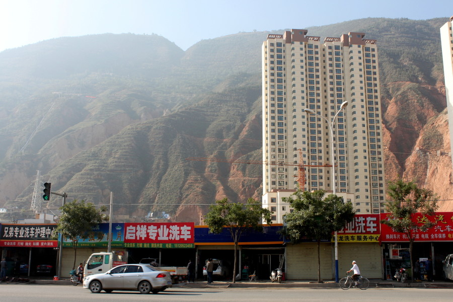 Ланьчжоу, выбираясь в пригород