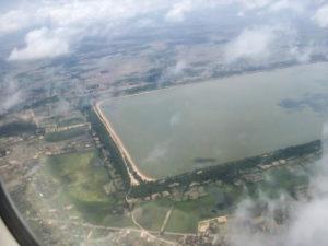 Западный Барай, вид с воздуха