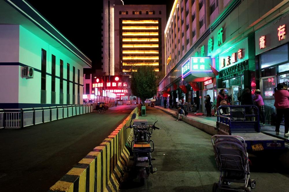Улицы ночного Урумчи